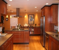 bamboo-flooring-kitchen-with-amazing-lighting